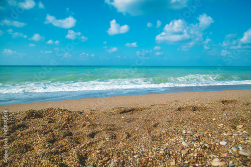 Fototapeta Turkey Mediterranean sea summer sunny day. Selective focus.
