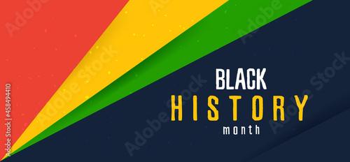 Celebrate Black history month. Horizontal banner.
