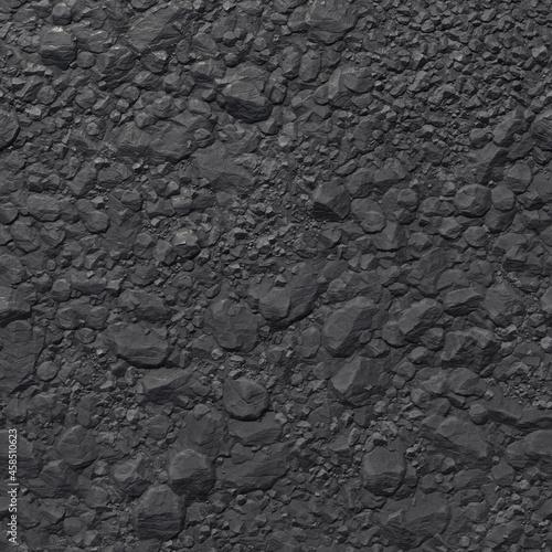 Fotografie, Obraz Coal mineral black cube stone background