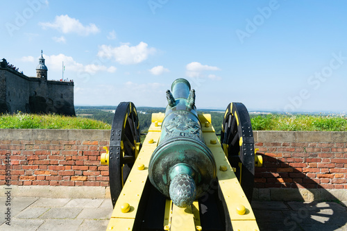 Konigstein Fortress castle europe germany saxon bastille old medieval cannon Fotobehang