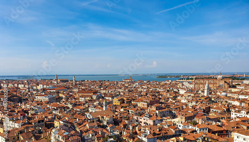 Tela Red tiled roofs of venice as viewed from St Marks Campanile