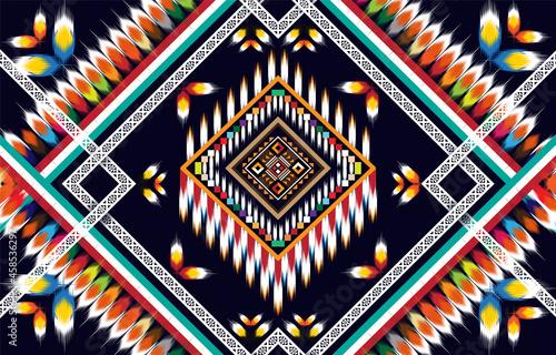 Fotografiet Ikat geometric folklore ornament