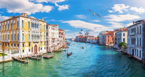Tablou Canvas Grand Canal of Venice, view of the Lagoon near Santa Maria della Salute, Italy