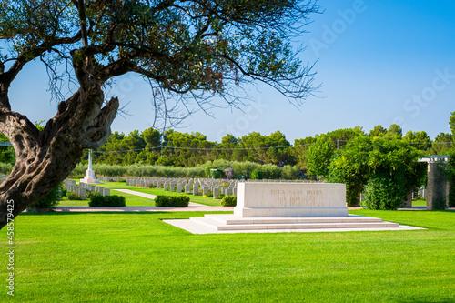 Fotografie, Obraz Canadian War Cemetery Moro River Ortona, Trabocchi Coast, Abruzzo, Italy - Tombs