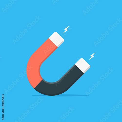 Canvastavla Magnet flat vector illustration