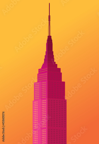 Empire State Building Vector, New York Skyline, Tall Building, Empire State Buil Fototapet