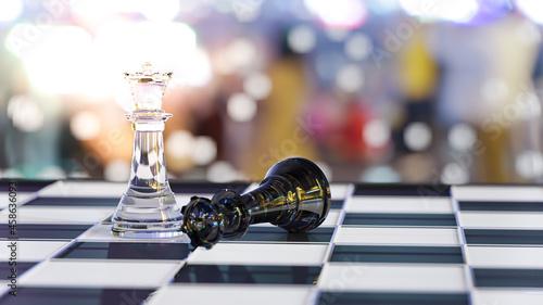 Obraz na plátně chess board game for leadership concepts