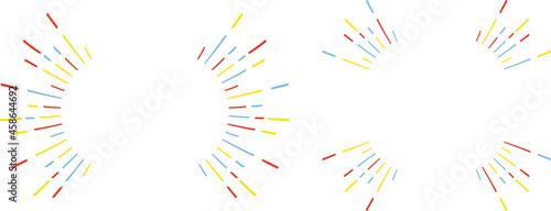 Foto 手描き 3色ライン集中線