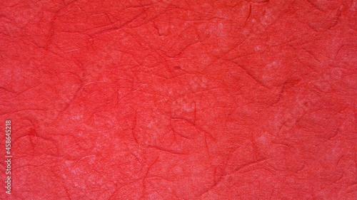 Fotografie, Tablou 赤色の手漉き和紙の背景素材