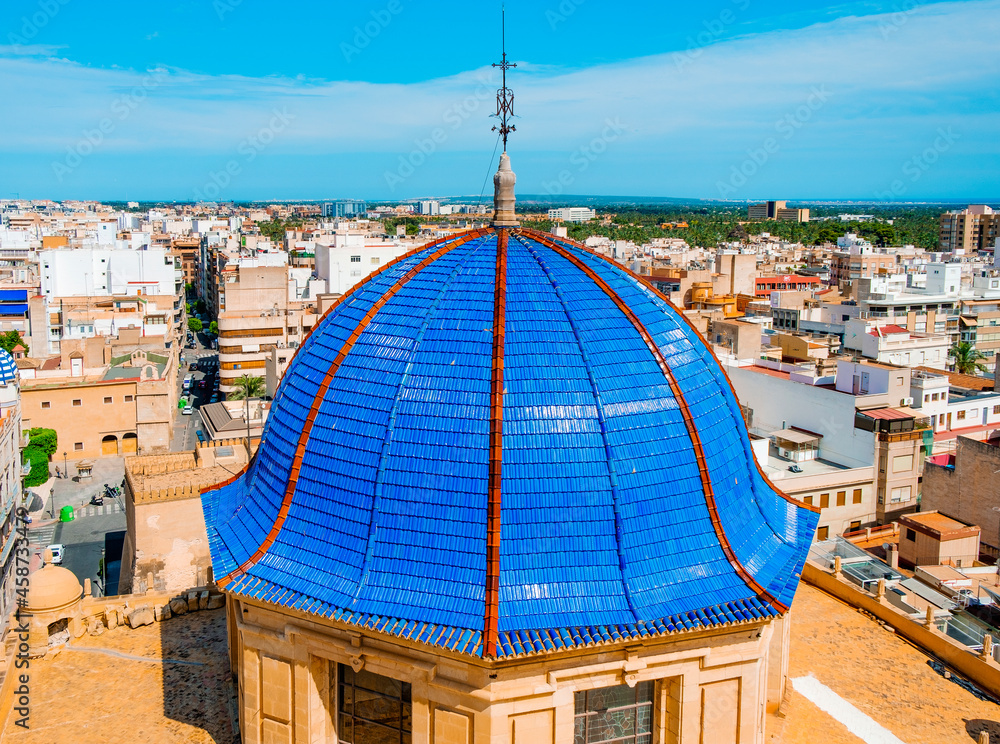 dome of Basilica of Santa Maria in Elche, Spain
