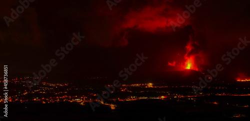 Wallpaper Mural Volcano erupting in Canary Islands. La Palma