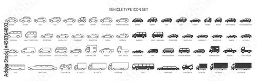 Fotografie, Obraz Various vehicle icon sets