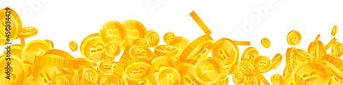 Fényképezés Thai baht coins falling