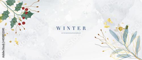 Billede på lærred Winter background vector