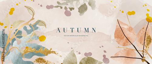 Fotografie, Obraz Autumn background vector