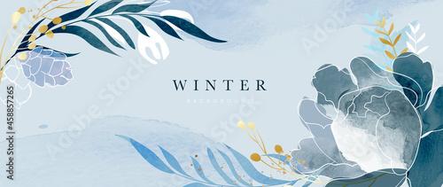 Fotografering Winter background vector
