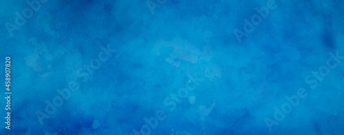 Fotografie, Obraz abstract blue background texture with old grunge border in dark sponged design w