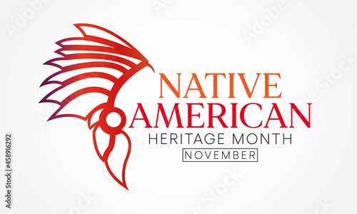 Fotografie, Obraz Native American heritage month is observed every year in November, to recognize the achievements and contributions of Native Americans
