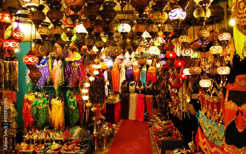 Obraz na plátně Market stall in Bazaar in Istanbul