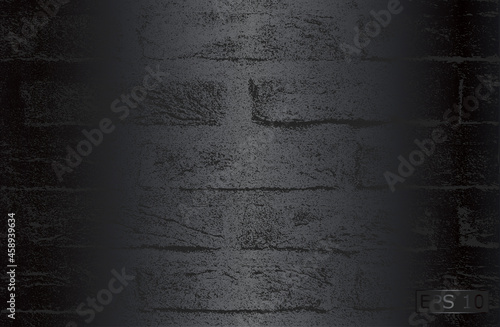 Wallpaper Mural Luxury black metal gradient background with distressed brick wall texture