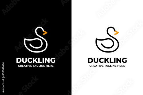 Fotografie, Tablou Swan Duck Silhouette Business Logo