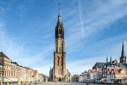 Foto New church on the Markt in Delft, Zuid-Holland province, The Netherlands
