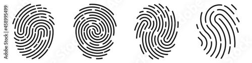 Slika na platnu Set of vector fingerprints of different types