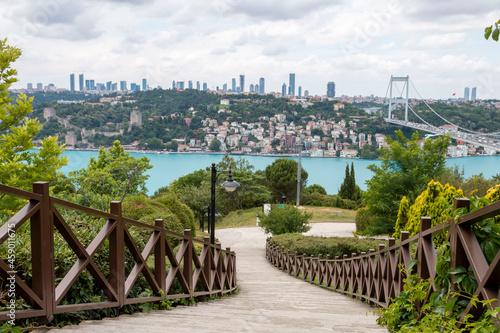 ISTANBUL, TURKEY, JUNE 18 2021,  Istanbul Bosphorus from Otagtepe Fototapet