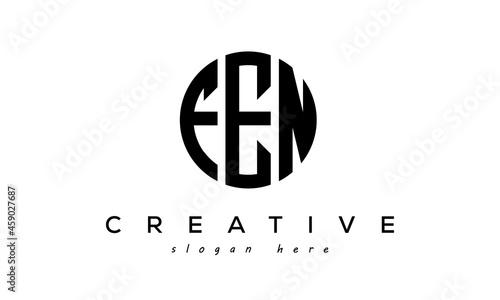 Fotografie, Obraz Letters FEN creative circle logo design vector