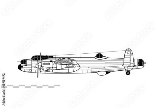 Canvas Print Avro Lancaster
