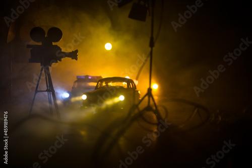 Valokuvatapetti Action movie concept