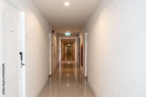 Fotografie, Obraz Long corridor in luxury condominium