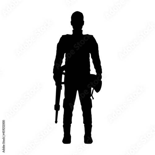 Fotografie, Obraz soldier standing with rifle