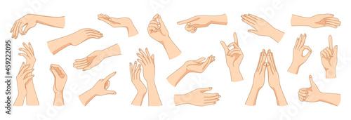 Photo Women hands gestures
