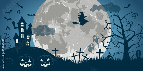 Fotografia, Obraz 満月のハロウィン