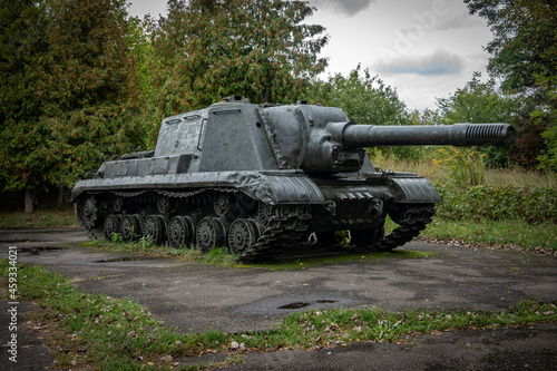 Fotografie, Obraz a tank from the Second World War stands in the park at the exhibition