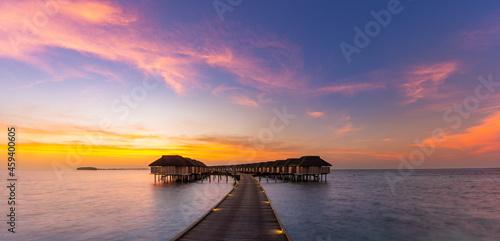 Fototapeta Maldives island sunset