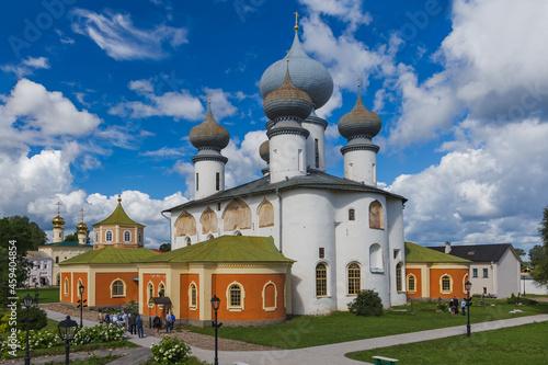 Fototapeta Tikhvin, Russia - July 30, 2020: Tikhvin Monastery - Saint Petersburg region - R