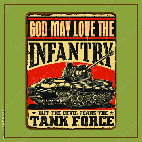 Obraz na plátně TANK FORCE SIGNS