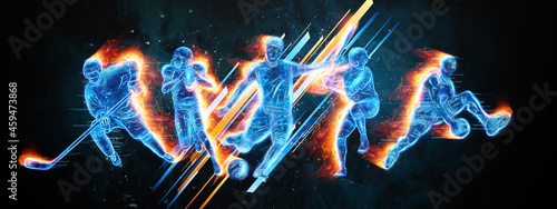 Fotografia Creative collage of different athletes