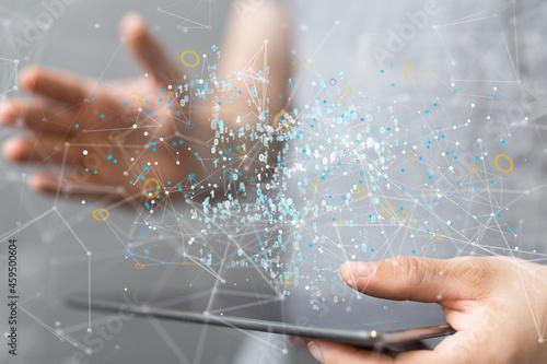 Murais de parede Artificial Intelligence Cloud technology