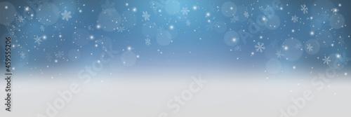 Obraz na plátně Sunny winter day