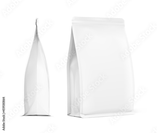 Obraz na plátně Realistic food bag set isolated on white background