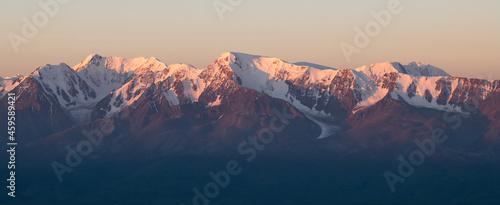 Billede på lærred sunrise in the mountains