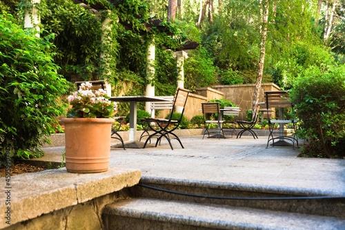 Fotografering Picture of verandah with modern garden furniture
