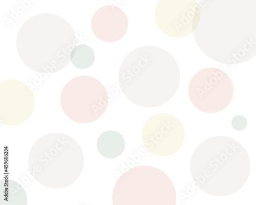 Fotografie, Tablou ランダムな淡い色の水玉模様 背景 壁紙 全面