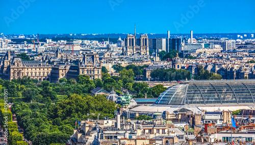 Obraz na plátně Notre Dame Cityscape Buildings Paris France