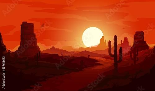 Fotografia American desert landscape
