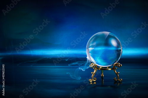 Wallpaper Mural Magic crystal ball. Fortune teller, mind power concept.