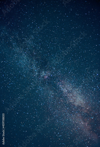 The Milky Way. summer night sky with stars. Starfall.The Perseids, one of the most powerful meteor showers on the night of August. Background. selective focusing on the starry sky, night shooting